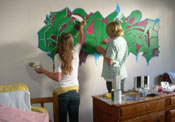 Learn to paint a mural in your own room art instruction by Beth Amine