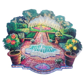 Garden card sets that can be put into shrines for adornment