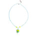 blue green blown glass necklace