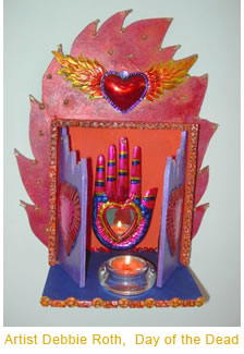 Featured Shrine by Debbie Roth used the shrine kit  designed by Beth Amine